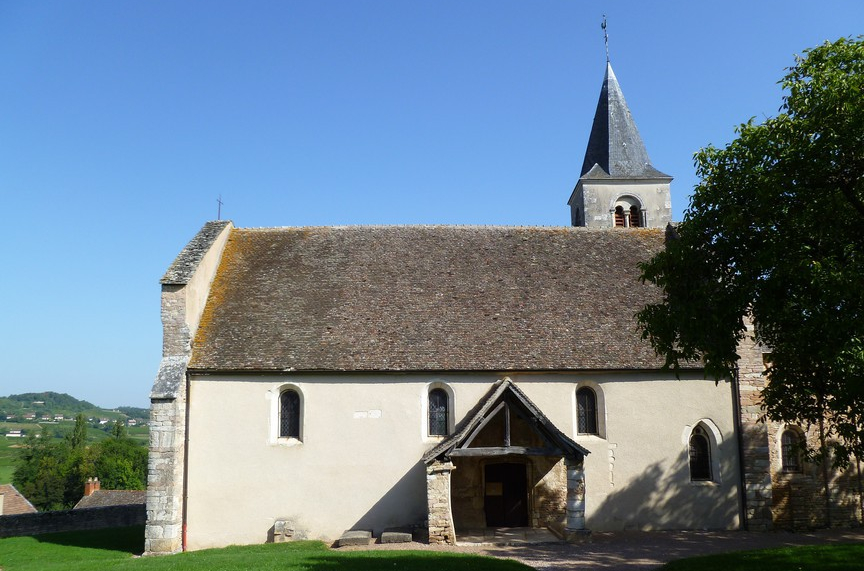 De kerk van Mellecey (Wijn uit Bourgogne)