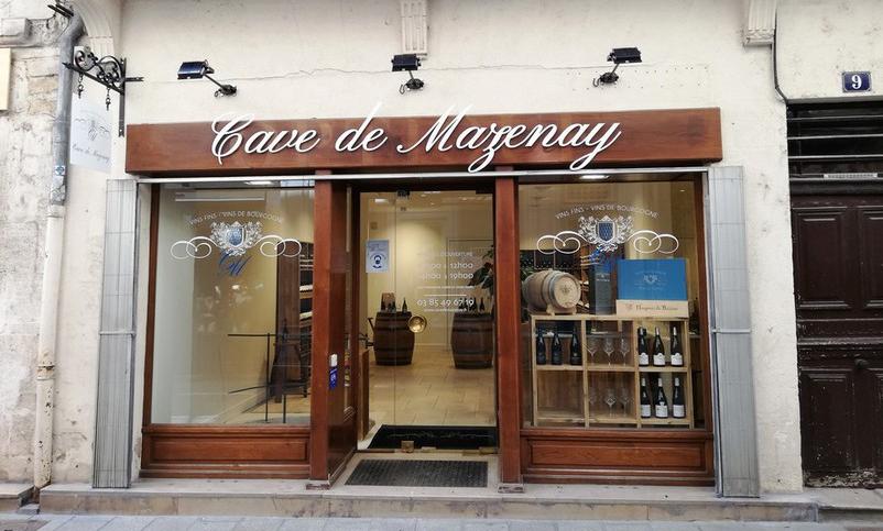 De winkel van Cave de Mazenay in Chalon-sur-Saône (Wijn uit Bourgogne)