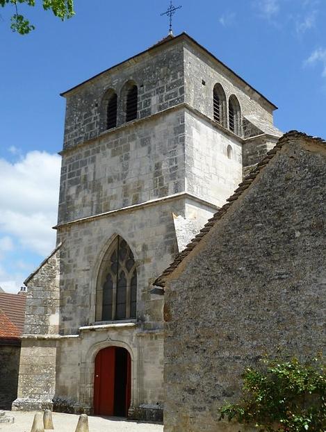 Het kerkje in Saint-Romain le-Haut (Wijn uit Bourgogne)